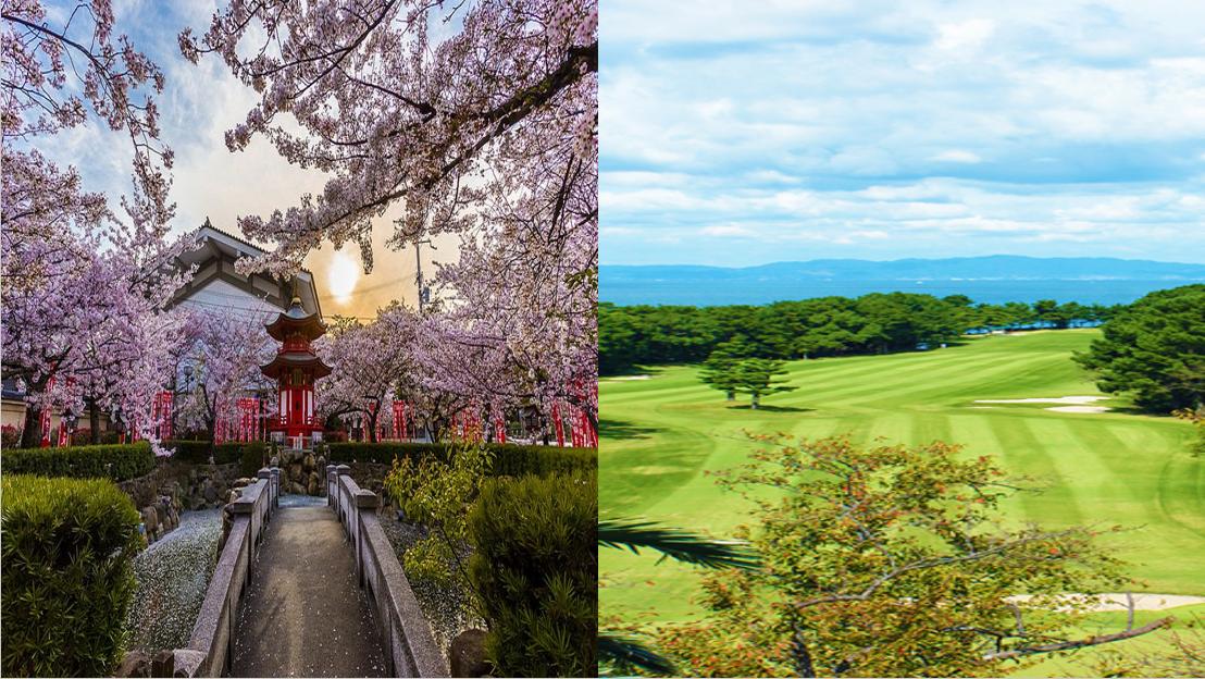 日本大阪京都观光温泉高尔夫之旅4晚5日游(2场球)