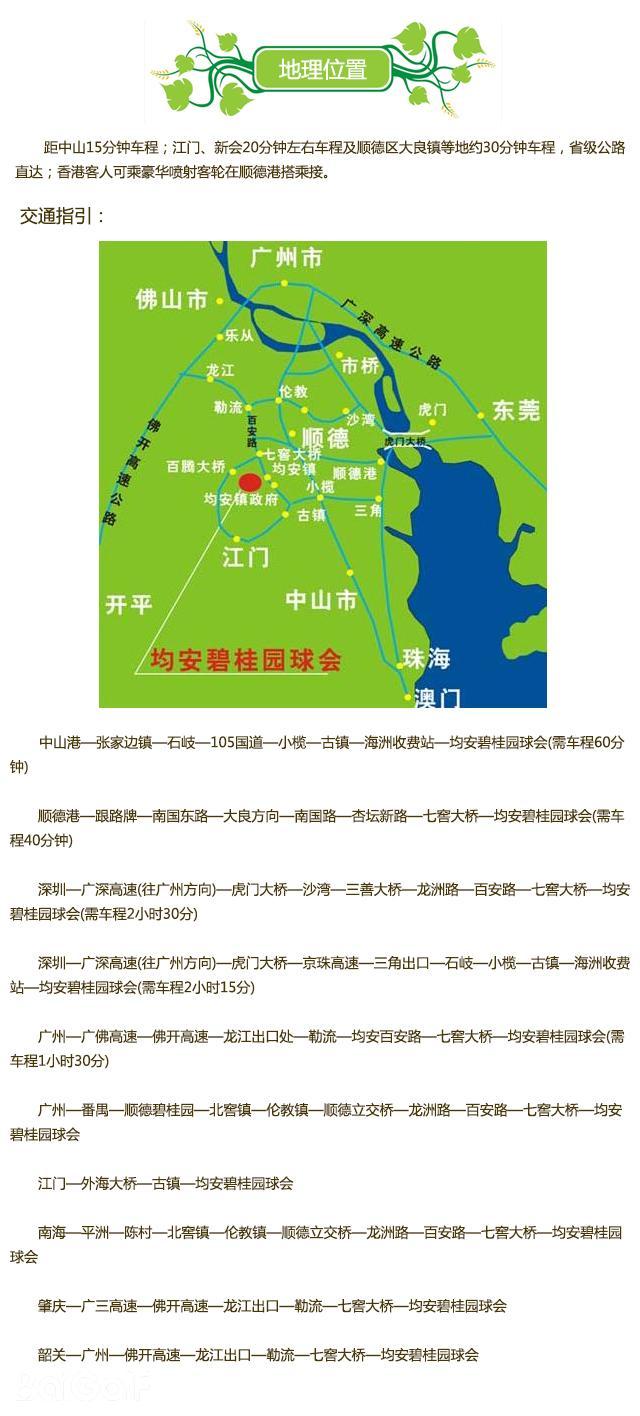 均安碧桂园高尔夫球会地理位置