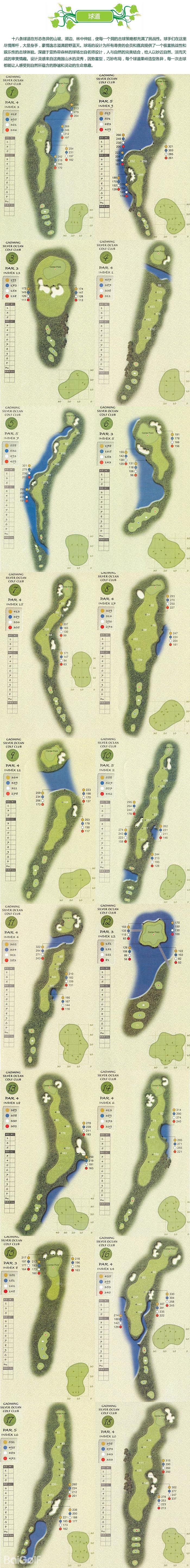 高明银海高尔夫球道图