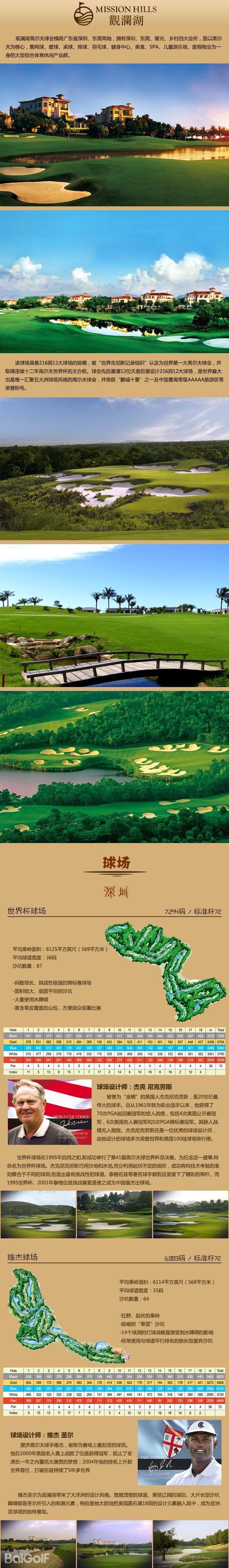 观澜湖高尔夫球会简介